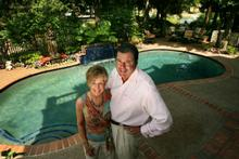The Tuscany-influenced gardens of Mark and Jane Stephens will be featured in the Harbor Town tour on Saturday.