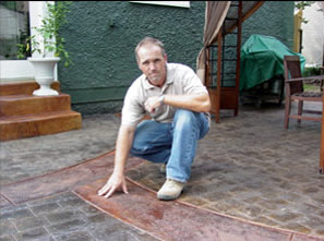 Kevin Baltz, Baltz & Sons Concrete 2005 Decorative Concrete Winner Tennessee Concrete Association